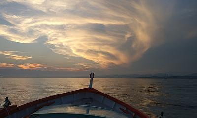 Pointu dans la baie de Sanary un soir d'été