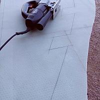 Traçage du plancher du bateau en Nidaplast